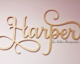 Fancy Flourish Painted Wooden Letters Custom Wooden Name | Etsy