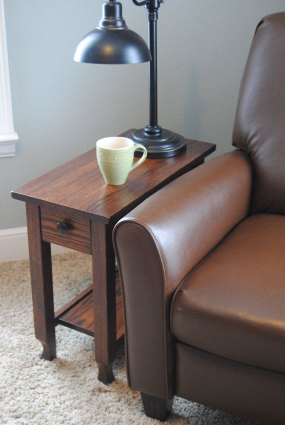 Chase Chairside Table. Nice lamp.
