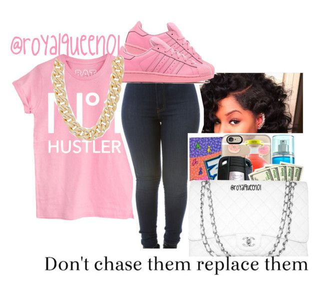 """""""Hustla°"""" by royalqueen01 ❤ liked on Polyvore featuring adidas Originals and Michael Kors"""
