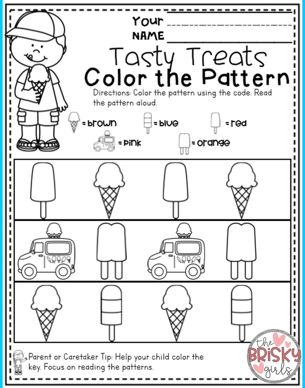 Preschool Summer Packet Distance Learning Take Home Packet