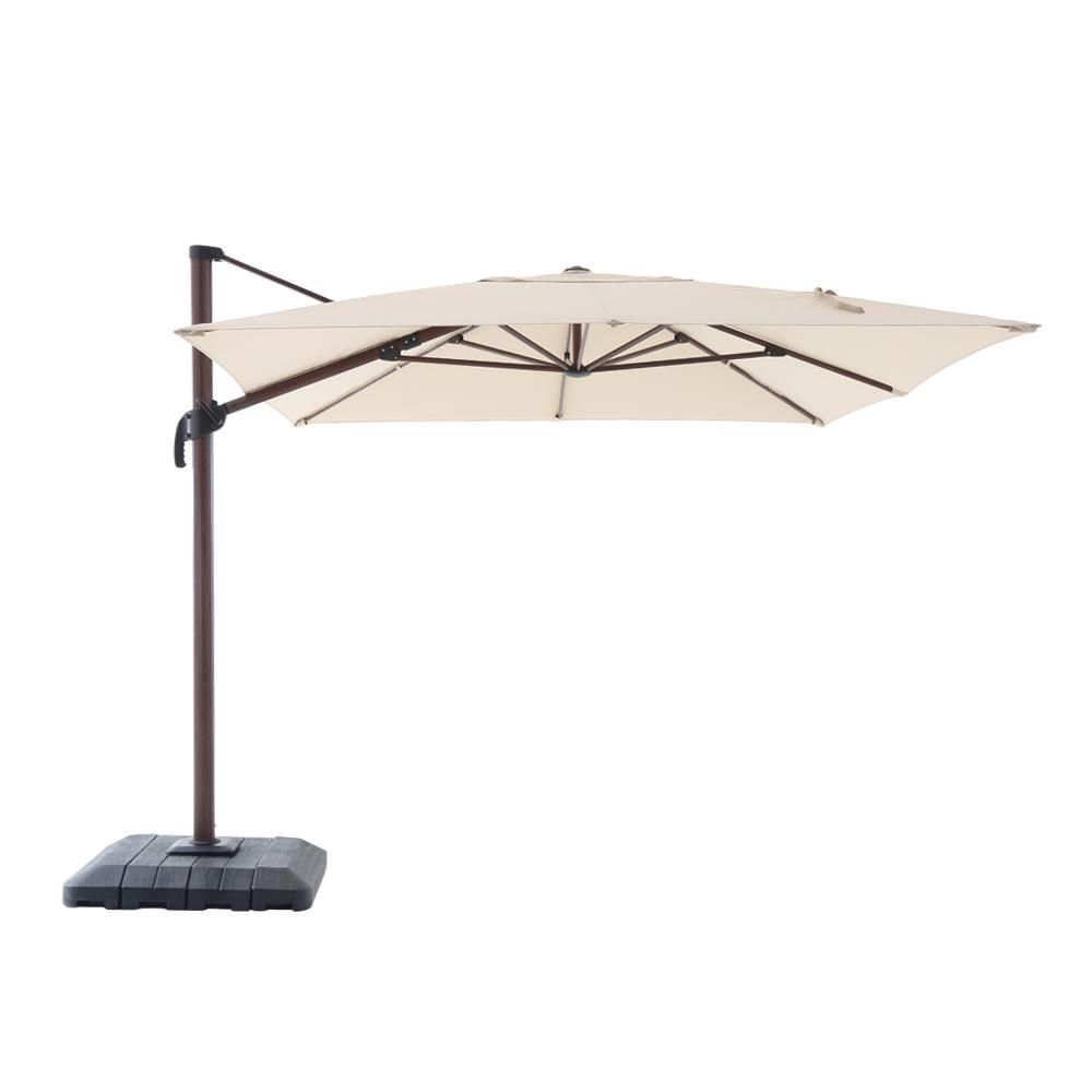 Hampton Bay 10 Ft X 12 Ft Aluminum Rectangle Offset Cantilever Outdoor Patio Umbrella In Cafe Yjaf 038g Cafe The Home Depot Offset Patio Umbrella Outdoor Patio Umbrellas Patio Umbrella