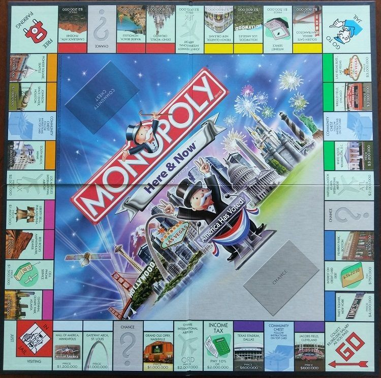 2006 Monopoly Here and Now Edition REPLACEMENT Board and