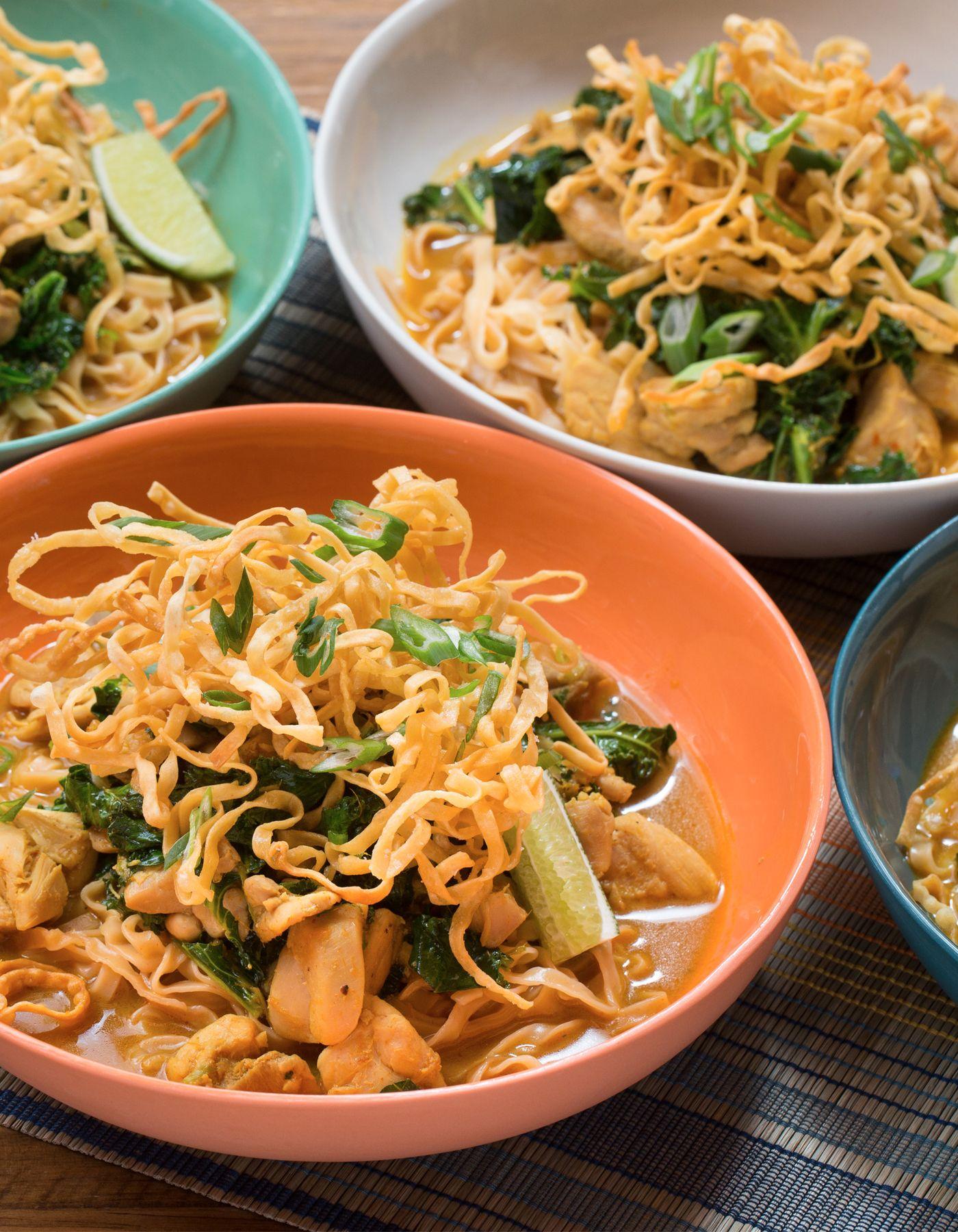 Blue apron wonton noodles - Chicken Khao Soi With Crispy Wonton Noodles
