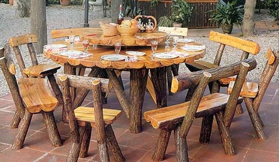 Mesa rustica artesanal 002 mesa rustica artesanal for Mesas de cocina rusticas