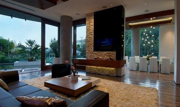 live in luxury assets of Bill Gates House Living Room