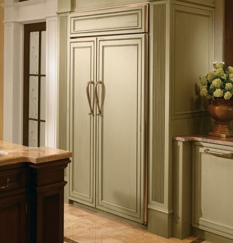 GE Monogram Custom Panel Side By Side Refrigerator   Traditional    Refrigerators And Freezers   New York   By GE Monogram