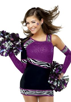 Cute cheer uniform. This would be more Typical for Gymnast ...