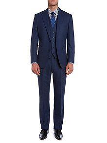 Hull herringbone flannel suit