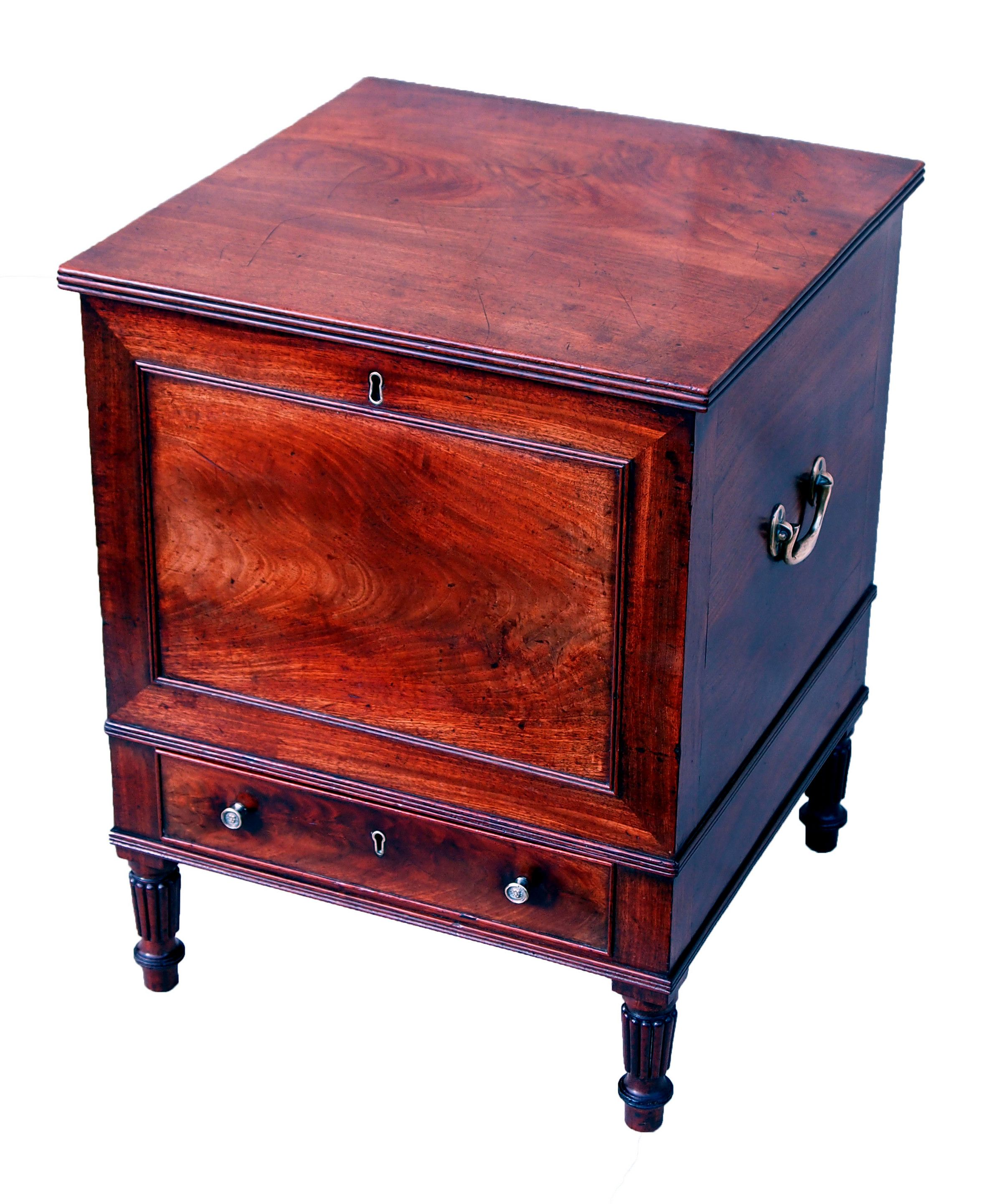 Antique Regency mahogany cellarette (England c. 1820) offered by S & S Timms at The Edenbridge Galleries, Kent. www.edenbridgegalleries.com