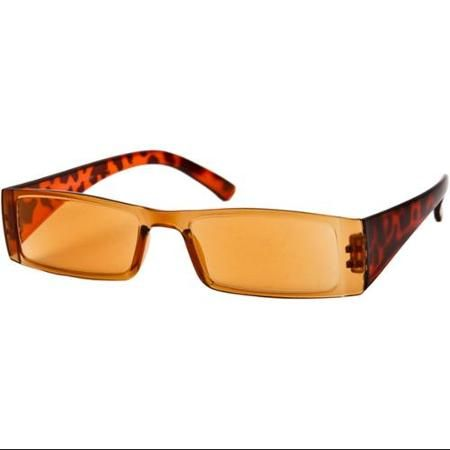 The Hayden Tinted Computer Reader +2.00 Brown Tortoise with Light Amber Lesnes Reading Glasses