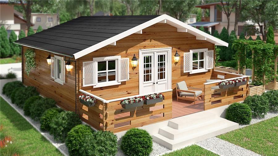 Tienda online donacasa bungalow dona 6 36 m 595x595 - Bungalows de madera prefabricadas precios ...