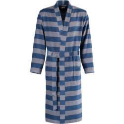 Cawö Bademantel Herren Kimono Struktur 6514 blau-grau – 17 – S Cawö – Street Style