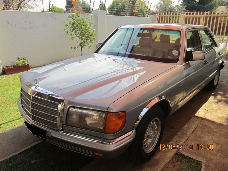 Silver Blue 1984 Mercedes 380se Auto For Sale For The Mercedes V8 Collectors Dark Cream Leather Seats Car Has Done 281 300 Km Classic Cars Mercedes Benz