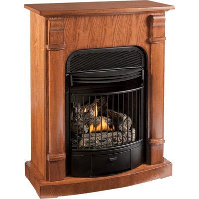 Procom Compact Vent Free Dual Fuel Fireplace With Corner