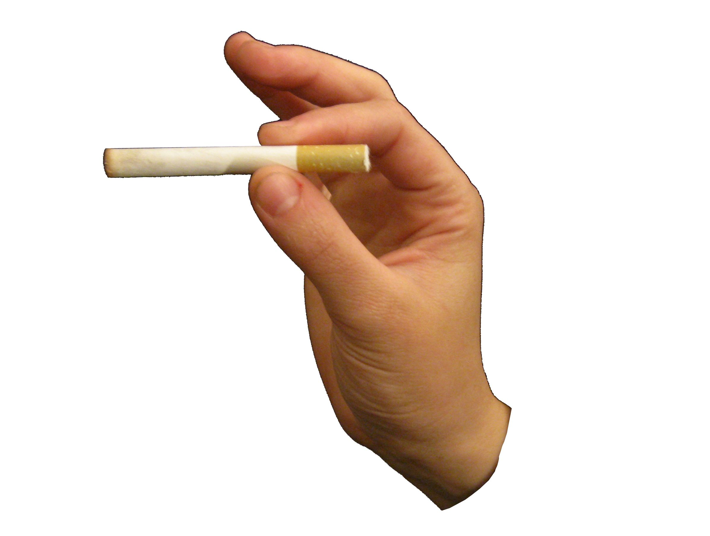 Hand Holding Stick ~ Hand holding cigarette hold your cancer stick