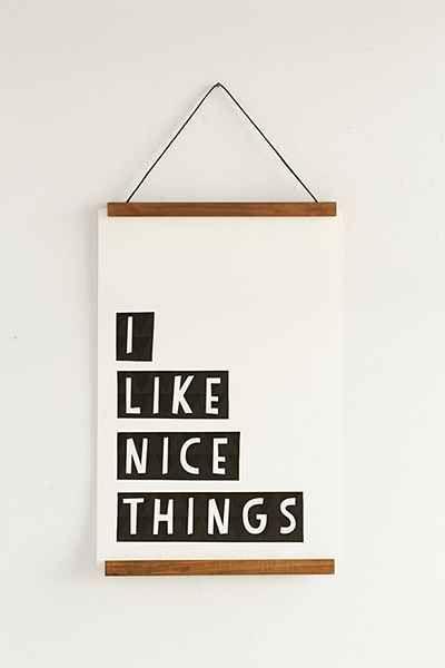 Wooden Print Dowel Hanger Walls Diy Ideas Wooden Tops Decor