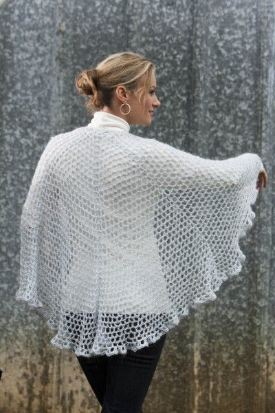 Draping Lace Crochet Shawl Shawl Free Crochet And Cosy