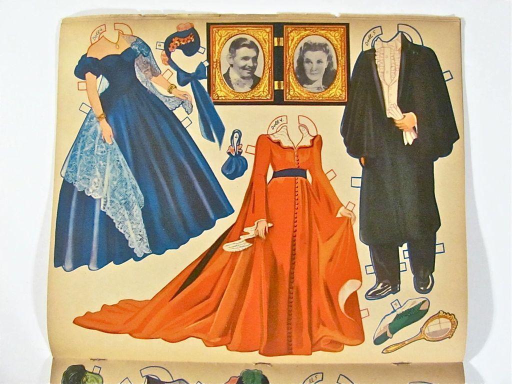 Gone With The Wind Paper Dolls Vintage 1940 Merrill from barbgrrlzdolls on Ruby Lane