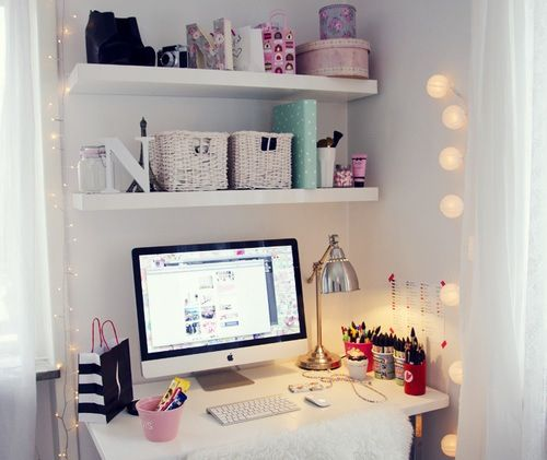 Cute way to organize your computer desk clever ideas - Organize computer desk ...
