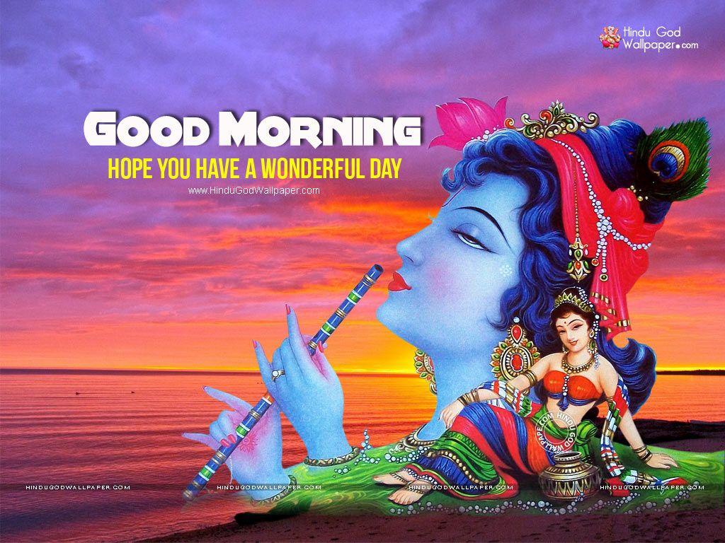 Jai Shri Krishna Good Morning Wallpaper Amazing Good Morning