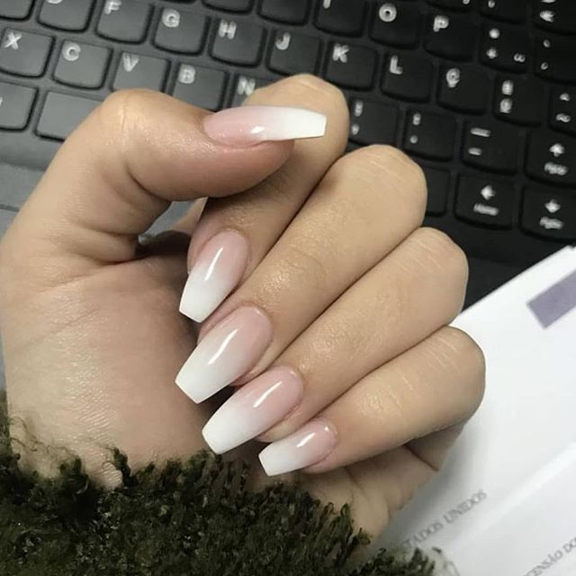 Neutral Ombre Nails With Images Soft Nails Ombre Nails