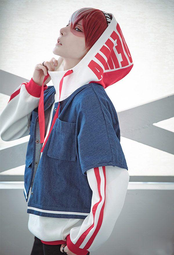 Photo of My Hero Academia Todoroki Shoto Heroes Weekly Magazine Cosplay Daily Hoodie Jacket Cosplay Costume
