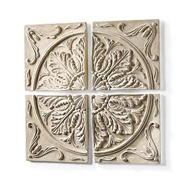 Outdoor Wall Plaques Simple Set Of Four Medallion Wall Plaques  For The Home  Pinterest Inspiration