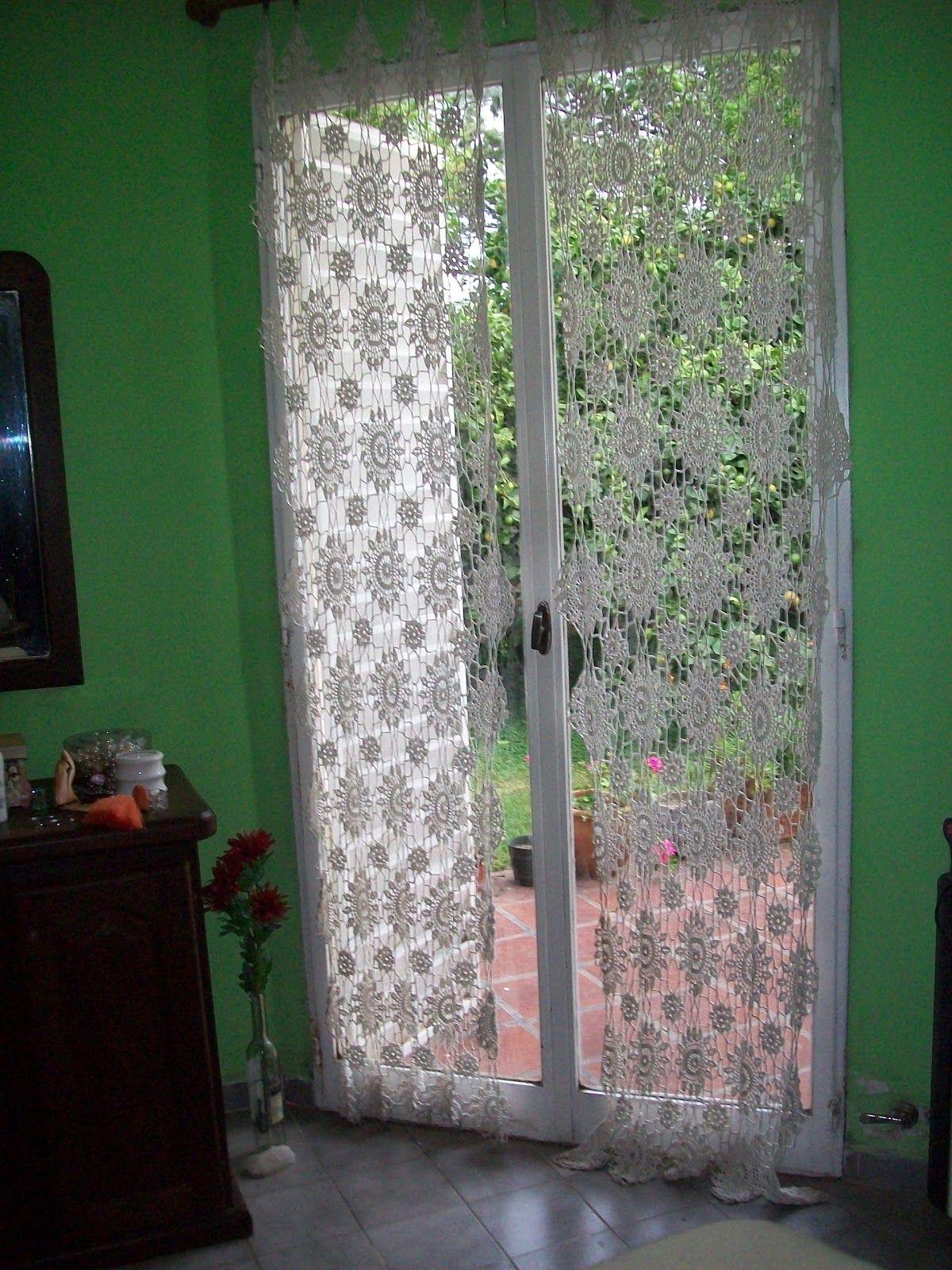 abuela cata tejido de diseo cortinas tejidas al crochet