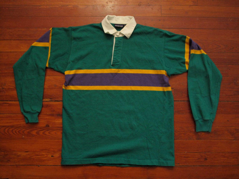 Patagonia Rugby Shirt Vtg Rugby Shirt Mens Tops Shirts