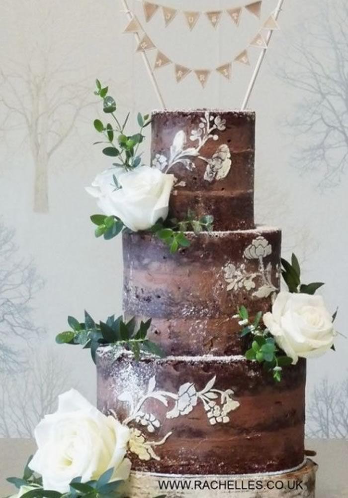 13 Schokoladen-Hochzeitstorten, die das Wasser im Mund zusammenlaufen lassen   – Cake