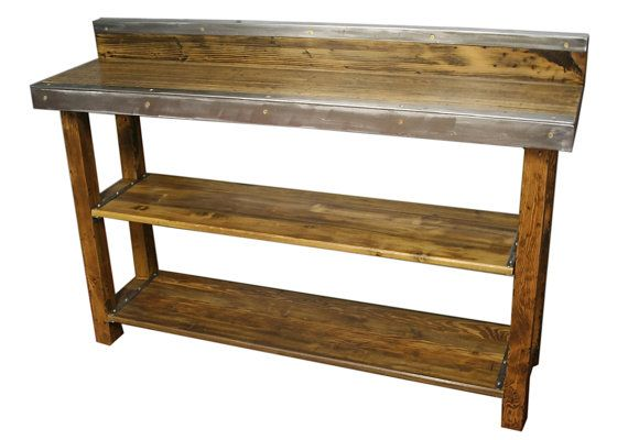 Restaurant Kitchen Stations work station tables reclaimed wood, restaurant table, wine server