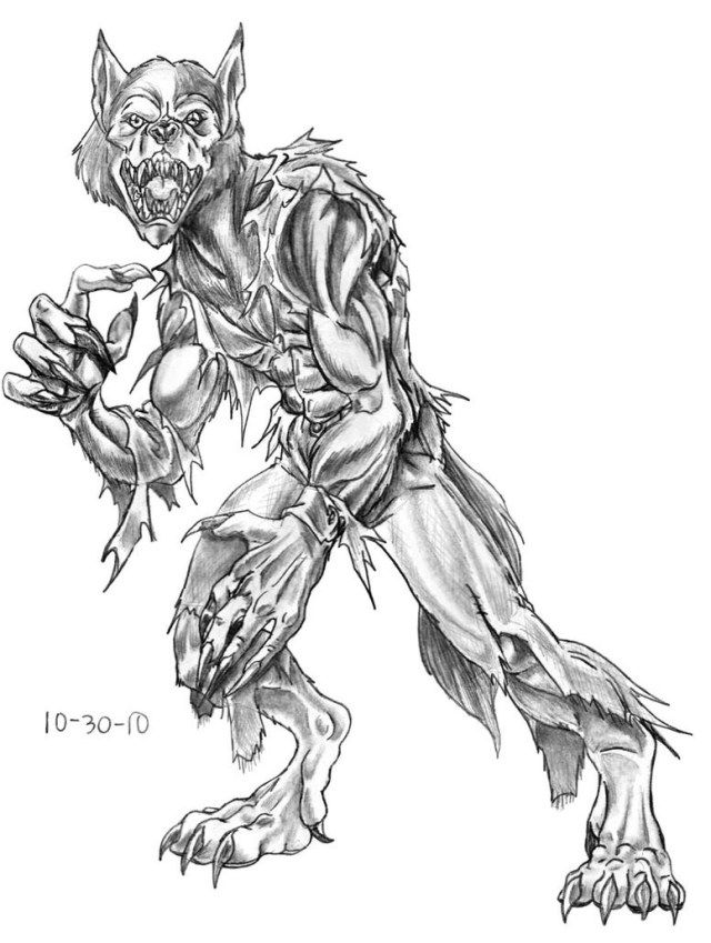 Marvelous Photo of Werewolf Coloring Pages   Coloring ...