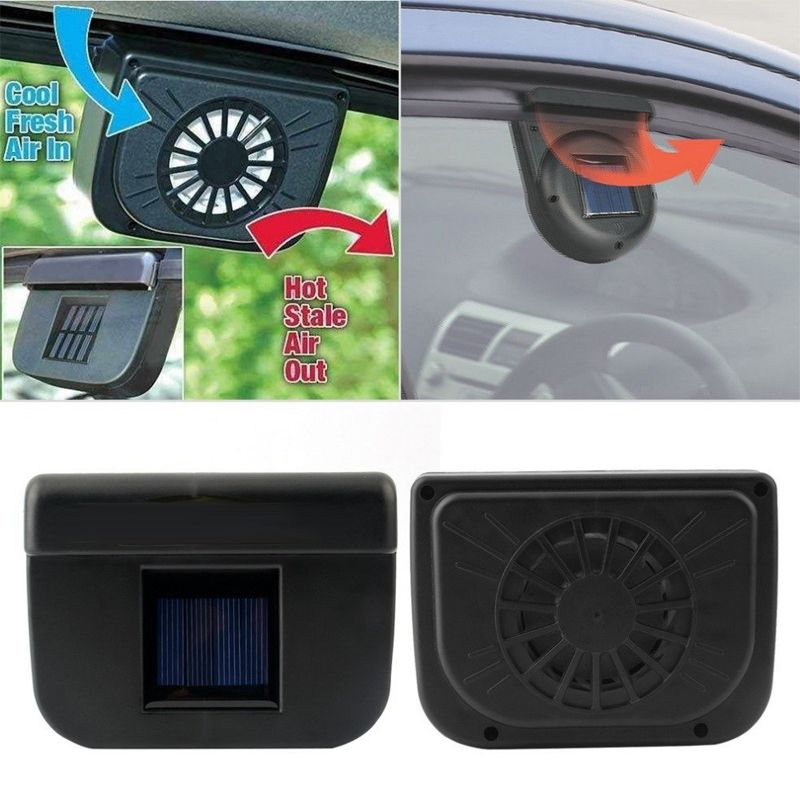 New Solar Power Car Style Auto Air Vent Cooling Fan Solar