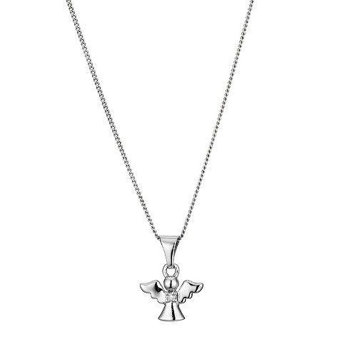 Children's Silver Angel Pendant Necklace @ H Samuel