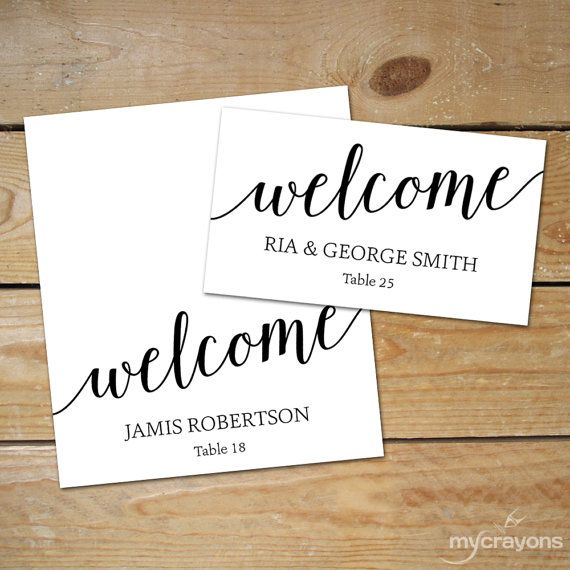 Editable Place Card Templates // DIY Wedding Place Cards // Black ...