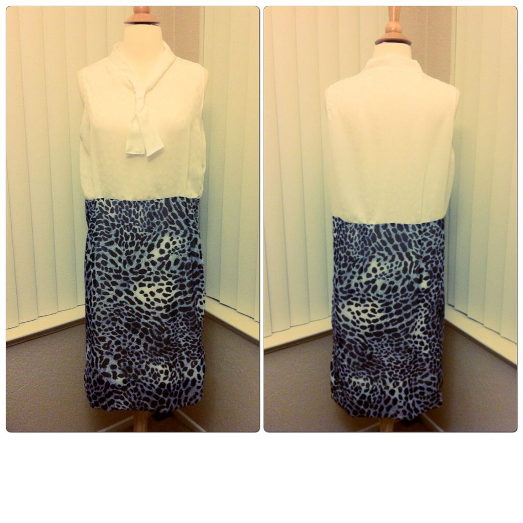 Classy leopard print #dress - even the top has white #leopard prints! http://etsy.me/1FkZzHf