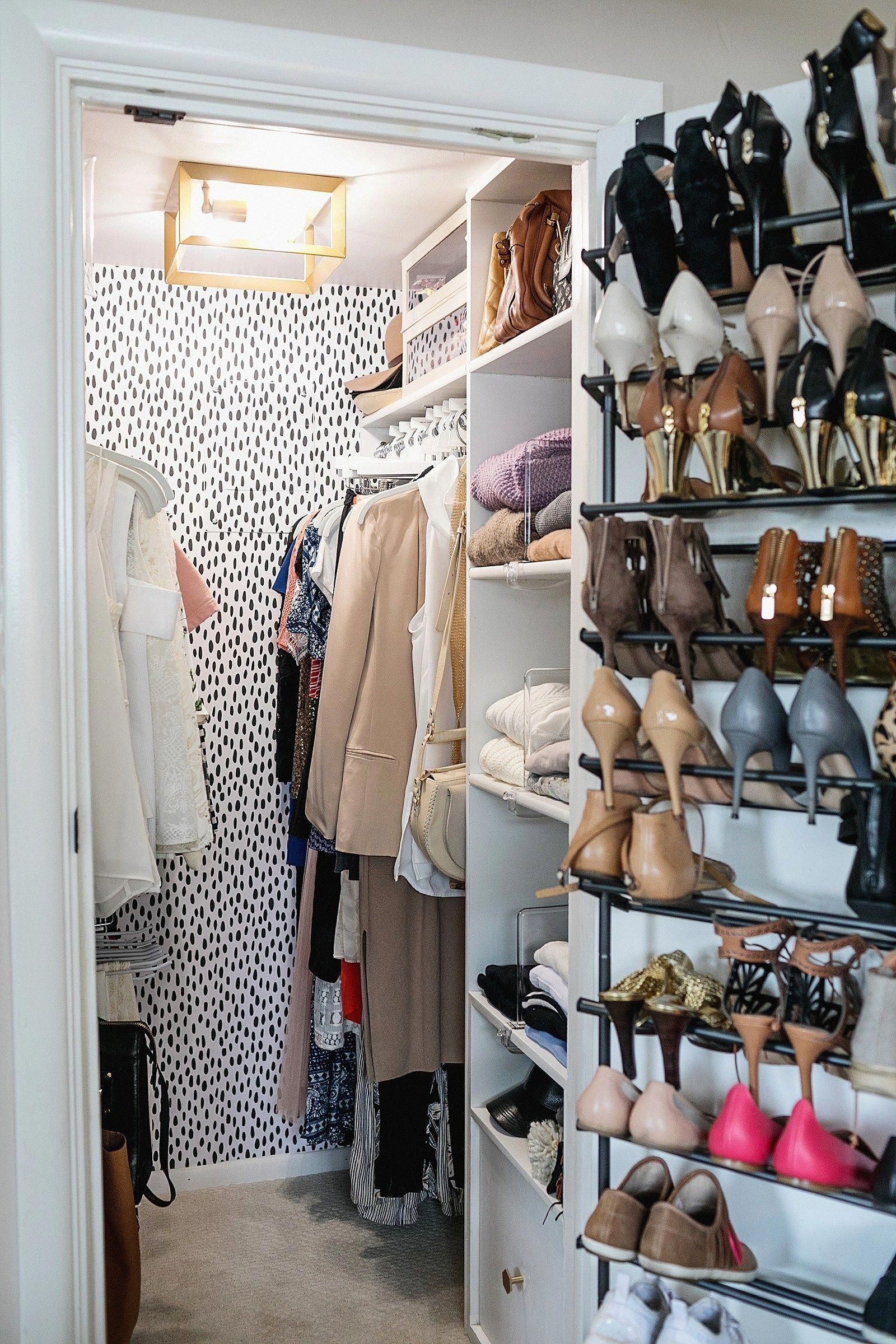 Closet makeover organization tips for an efficient tiny
