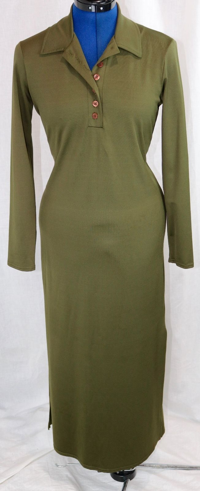 Awesome amazing denial green shirt maxi dress stretch modest full
