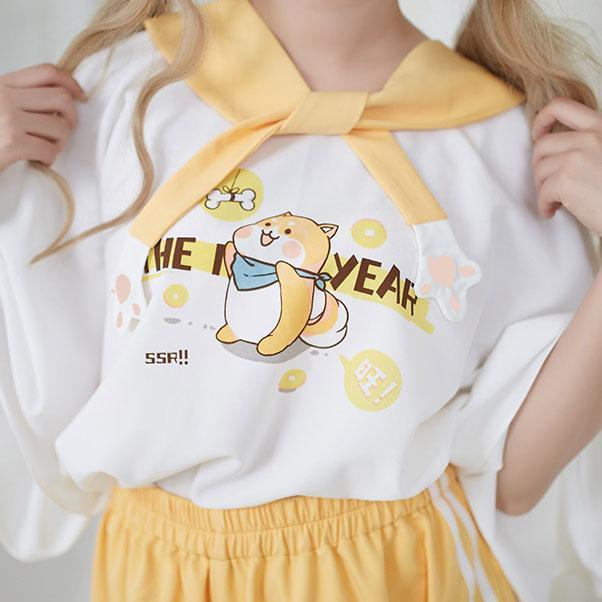 Shiba Inu Loose Sleeves Shirt SD00374 #kawaiiclothes