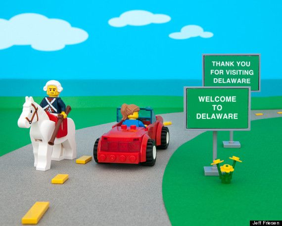 Across America In Legos States Delaware And Lego - 50 states in famous landmarks