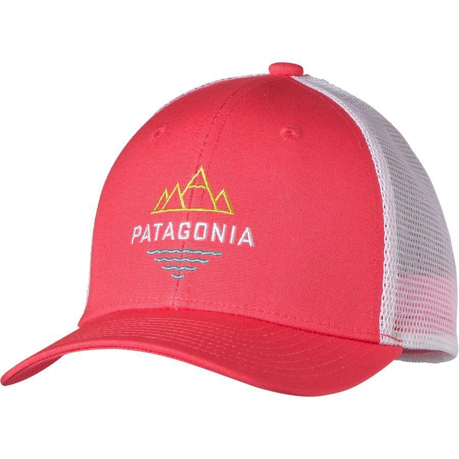 Patagonia Trucker Hat Girls Peak To Paddle Shock Pink