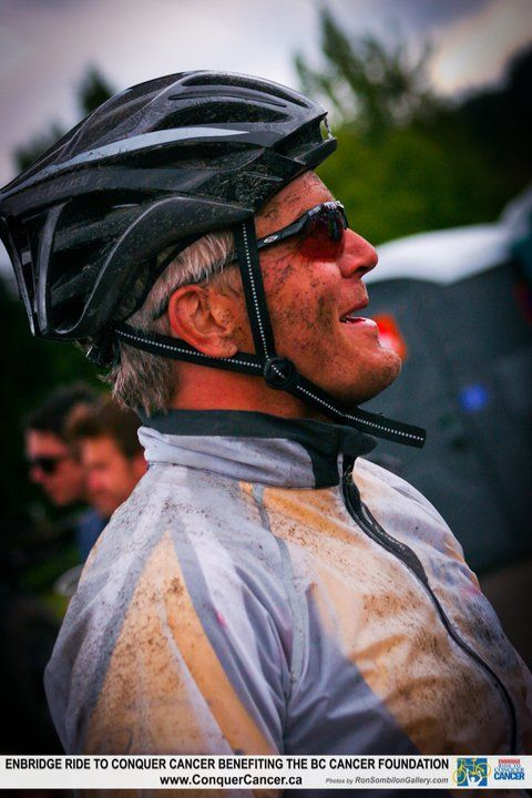 The toughness of the Ride, still able to crack a smile!  #RTCC #RideToConquerCancer