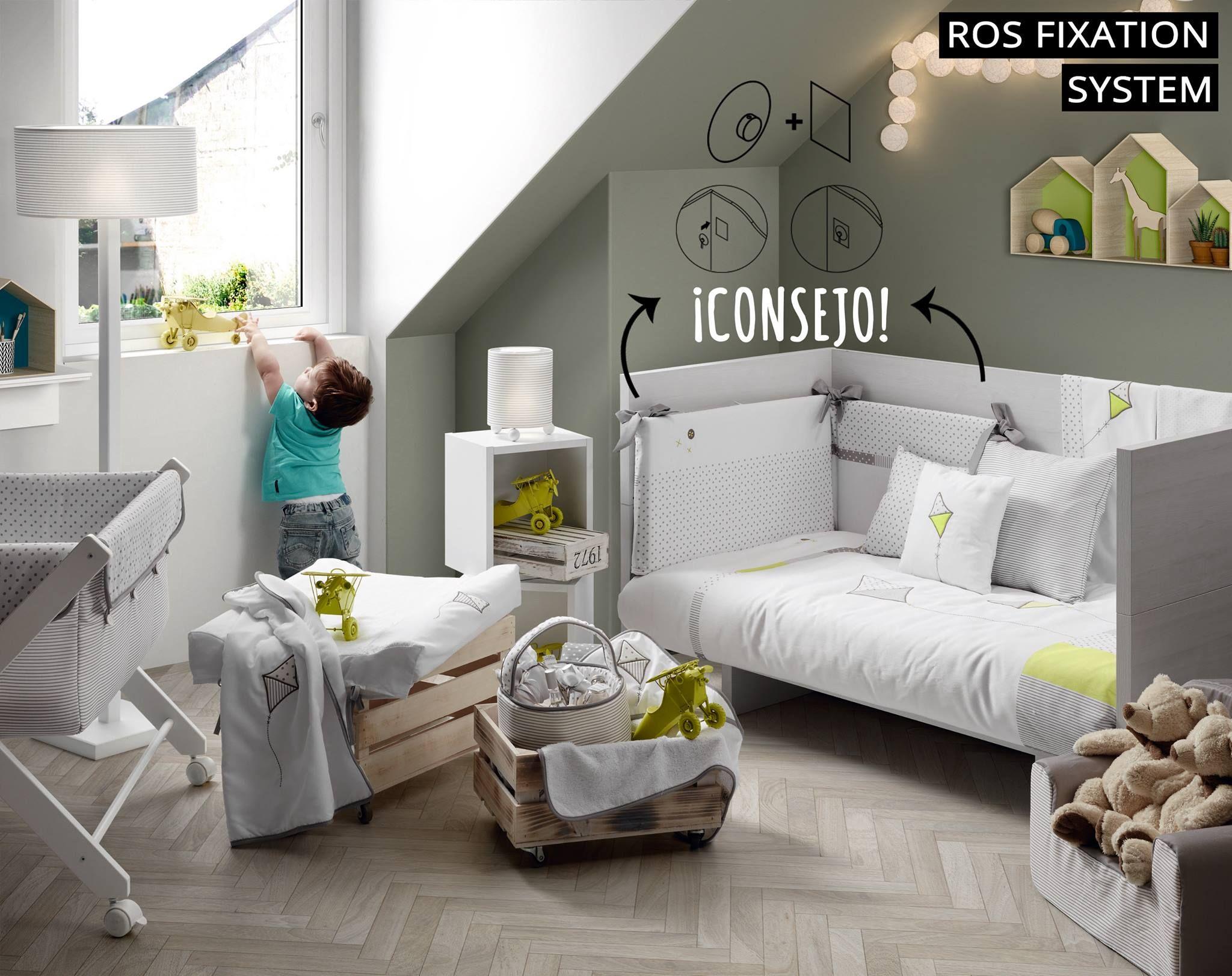 Fijar El Protector A La Cuna Convertible Dejar De Ser Un Problema  # Comprar Muebles Bopita