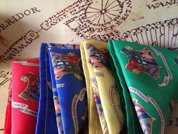 Mens Pocket Square Harry Potter Hogwarts Kitsch Fashion Handkerchief Gifts For Him Wedding Accessories Groomcustom