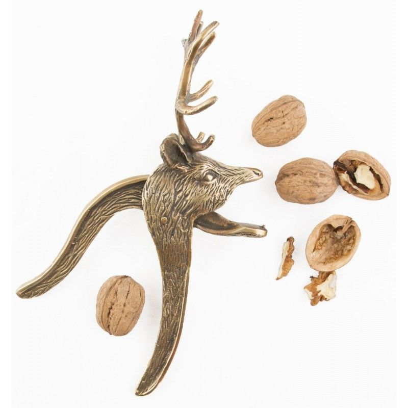 Brass Reindeer Nutcracker by Sass and Belle. This fabulous nut cracker makes a wonderful gift that can be enjoyed year after year.