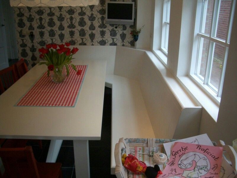 Keukenbank en tafel keuken pinterest