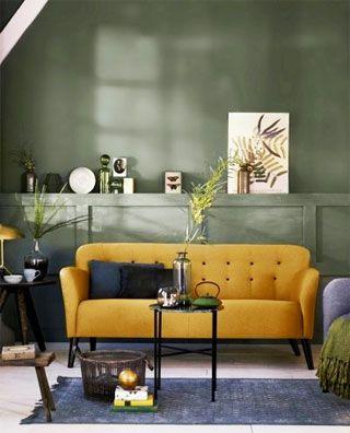 Afbeeldingsresultaat voor interieur met gele accenten - woonkamer ...