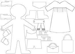 Paper Doll Chain Template  Google Search  Craft  Paper Dolls