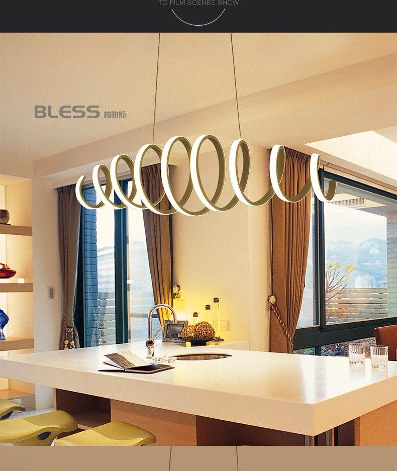 Minimalisme Moderne Led Lampes Suspendues Pour Salle à Manger Bar