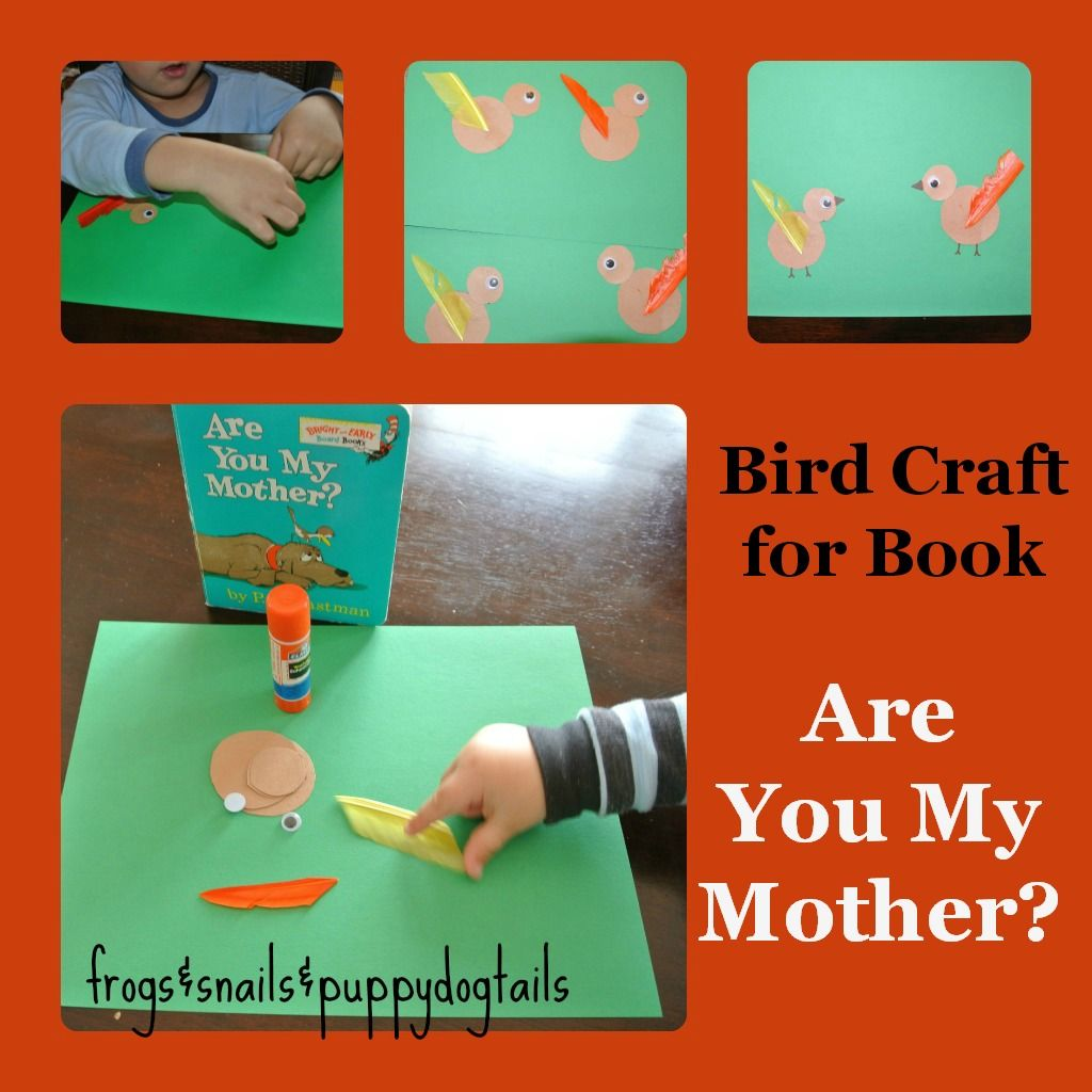 Bird Craft For Are You My Mother